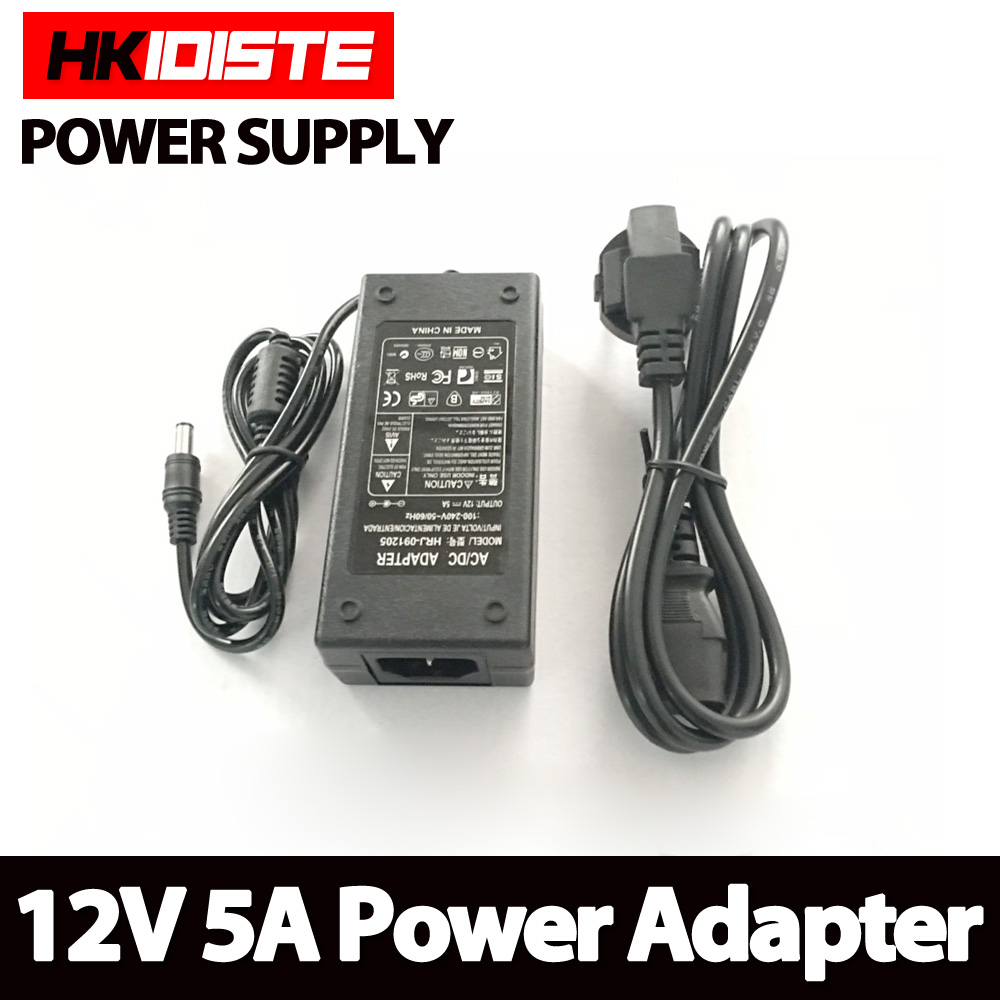 цена на Lowest Price New AC Converter Adapter For DC 12V 5A 60W LED Power Supply Charger for 5050/3528 SMD LED Light or LCD Monitor CCTV