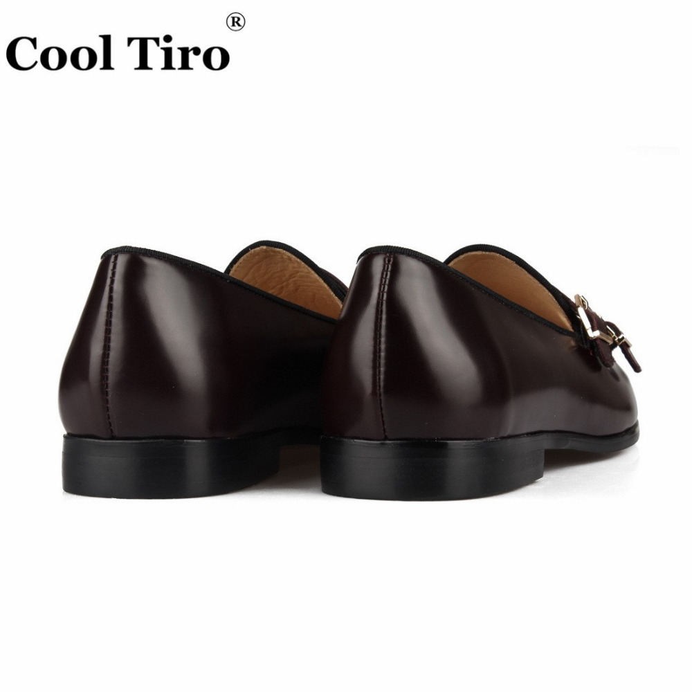 POLISHED LEATHER DOUBLE-MONK LOAFERS Brown (13)