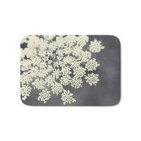 Black And White Queen Annes Lace Bath Mat Coral Fleece Rug Anti Slip Doormat Home Decor