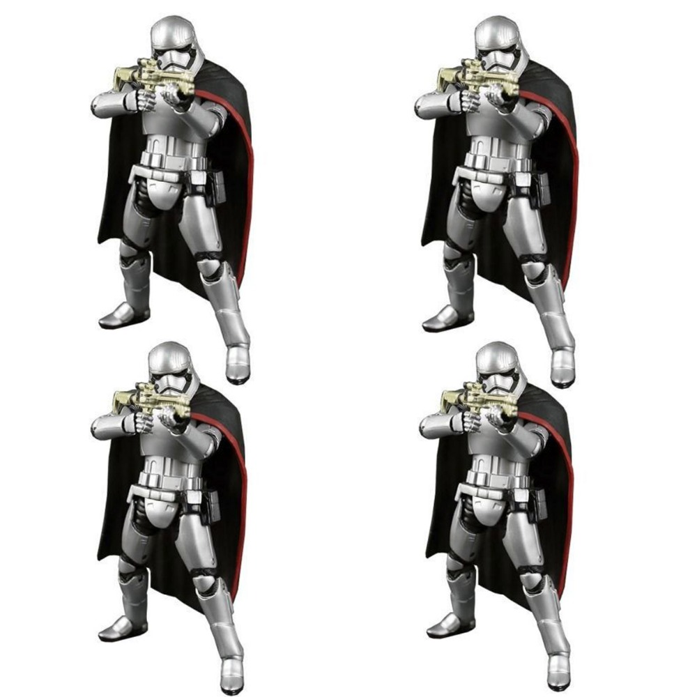 4pcs Movie The Black Series Stormtrooper Captain Phasma 6 Action Figures Set Free Shipping