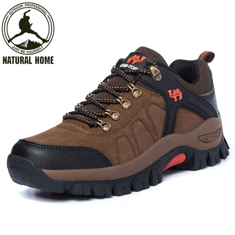 ФОТО NaturalHome Sports Professional Waterproof Hiking Shoes Outdoor Mountain Boots Men Women Walking Shoes Camping Boots