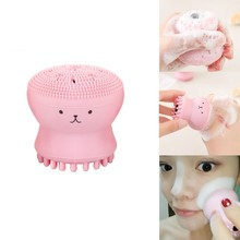 1Pc Face Clean Small Octopus Silicone Facial Exfoliator Wash Makeup Removal instrument manual wash cleansing Brush Cleaner Tool