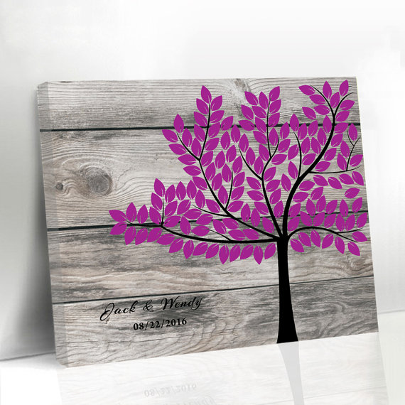 Rustic Wedding Sign In High Quality Unique Wood Graphics Printed on Canvas Guest Book Popular Customized Signature Guestbook