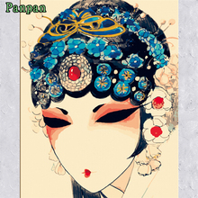 Abstract Hand painted canvas oil paintings Diy Painting By Numbers Chinese Opera actress Poster Home Decoration Christmas gift