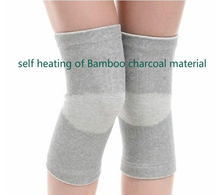 Prix pour Genouillère chaud charbon de bambou genouillère chaud protection automatique chauffage genou protection approprié pour le problème de genou lderly