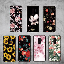 For Samsung Galaxy S8 S9 S10 S10e Plus E lite Note 8 Note 9 Vintage Floral Rose Sunflower Blossom Soft Bumper Phone Case(China)