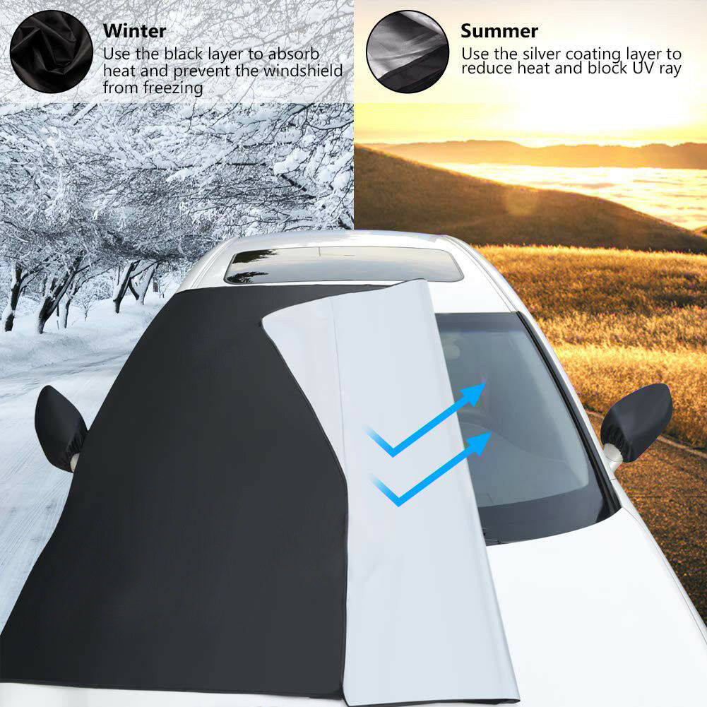 Auto Windshield Snow Cover Magnetic Waterproof Car Ice Frost Sunshade ProtectorAuto Windshield Snow Cover Magnetic Waterproof Car Ice Frost Sunshade Protector