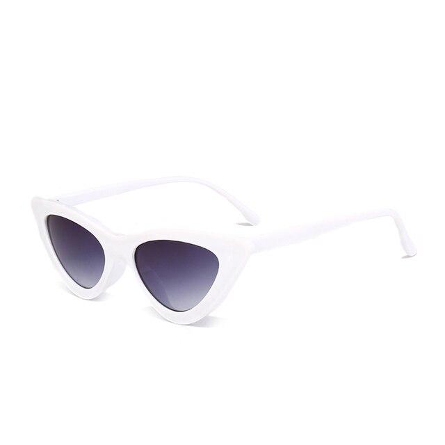 Peekaboo cute sexy retro cat eye sunglasses women small black white 2018 triangle vintage cheap sun glasses red female uv400 4
