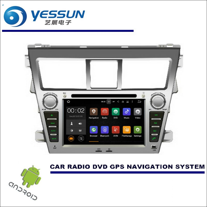 YESSUN For Toyota Vios / Yaris Sedan / Belta 2007~2013 CD DVD GPS Player Navi Radio Stereo HD Car Multimedia Navigation Android цена