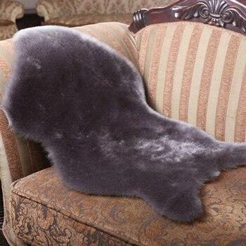 באיכות גבוהה מלאכותי כבש שעיר שטיח לסלון חדר שינה שטיחים עור פרווה רגיל פלאפי שטיחים רחיץ פו רך מחצלת