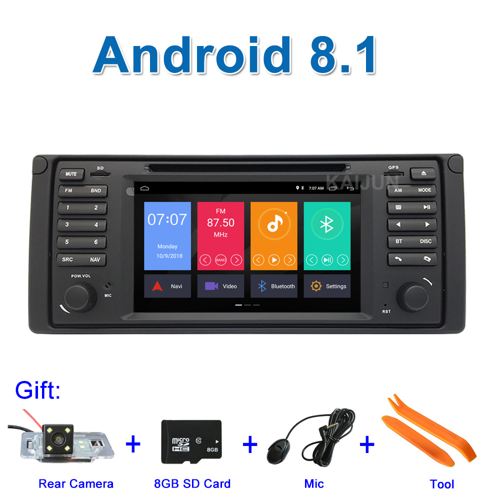 IPS screen Android 8.1 Car DVD Stereo Multimedia Player for BMW E39 M5 with Radio WiFi BT GPS