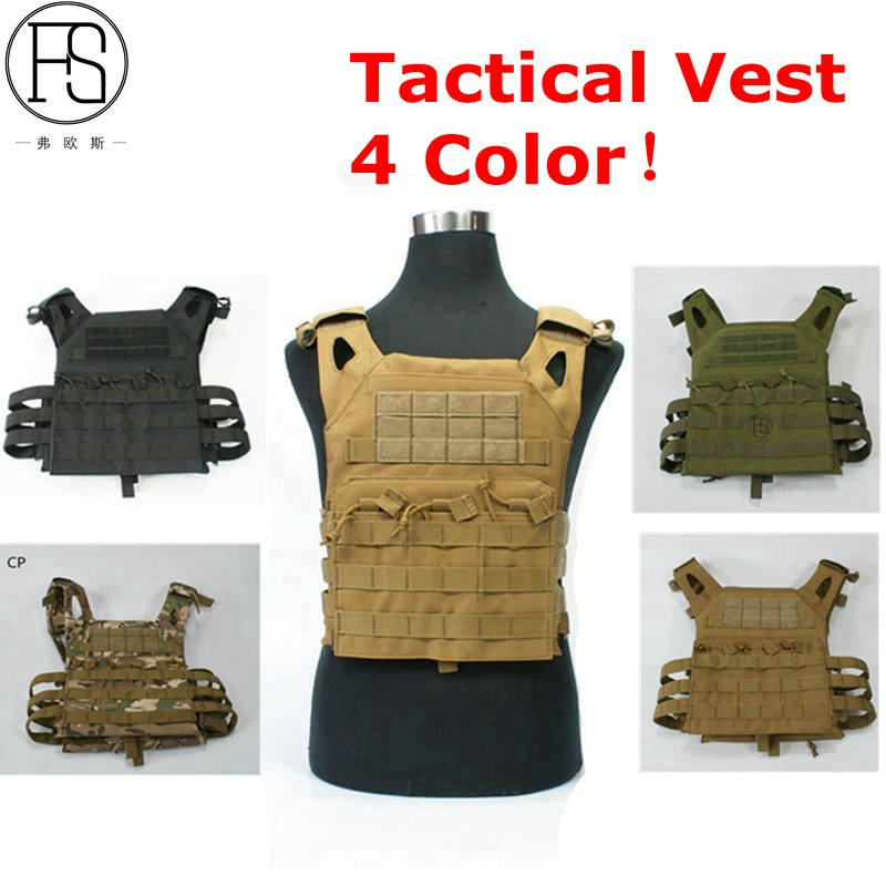1000D Molle JPC Tactical Vest Simplified Version Military Protective Plate Carrier Plate Carrier Vest Ammo Magazine Body Armor tactical jpc plate carrier vest ammo magazine body armor rig airsoft paintball gear loading bear system army hunting clothes
