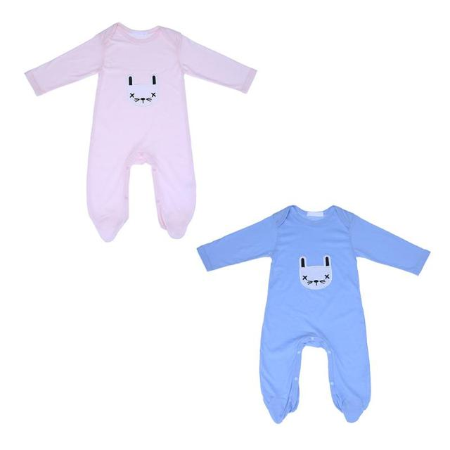 b4df00ed1 Baby Boys Girls Rompers Cartoon Rabbit Long Sleeve Jumpsuit Outfits ...