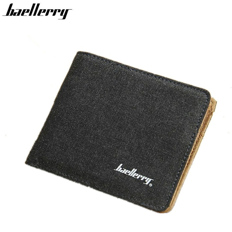 Hot Sale Fashion Men Wallets Quality Soft Linen Design Wallet Casual Short Style 3 Colors Credit Card Holder Purse Free Shipping(China)