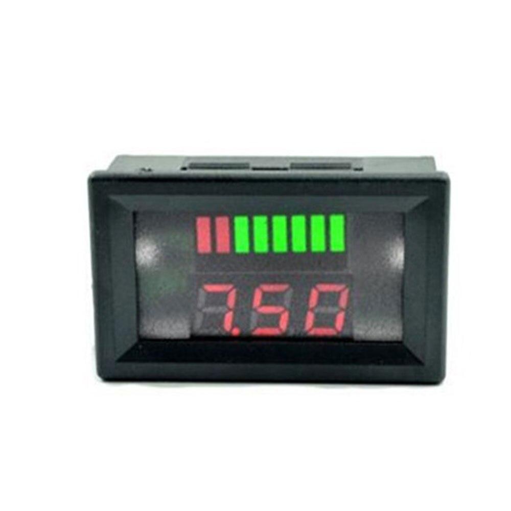 12 В/24 В свинцово-кислотный дисплей батареи Вольтметр Счетчик Электроэнергии Измеритель с цифровым дисплеем точный индикатор уровня заряда транспортного средства - Цвет: Red for 12V