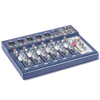 Professional New 7 Channel Mixing Console Stage Microphone Music Mixer with USB 48V MICWL F7 USB