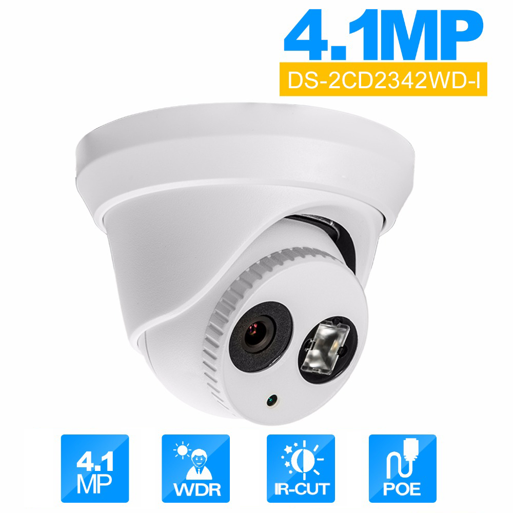 Hikvision DS-2CD2342WD-I English Version CCTV Camera 4.0 Megapixel  IR Mini Dome Network Camera Support firmware Upgrade hikvision ds 2de7230iw ae english version 2mp 1080p ip camera ptz camera 4 3mm 129mm 30x zoom support ezviz ip66 outdoor poe