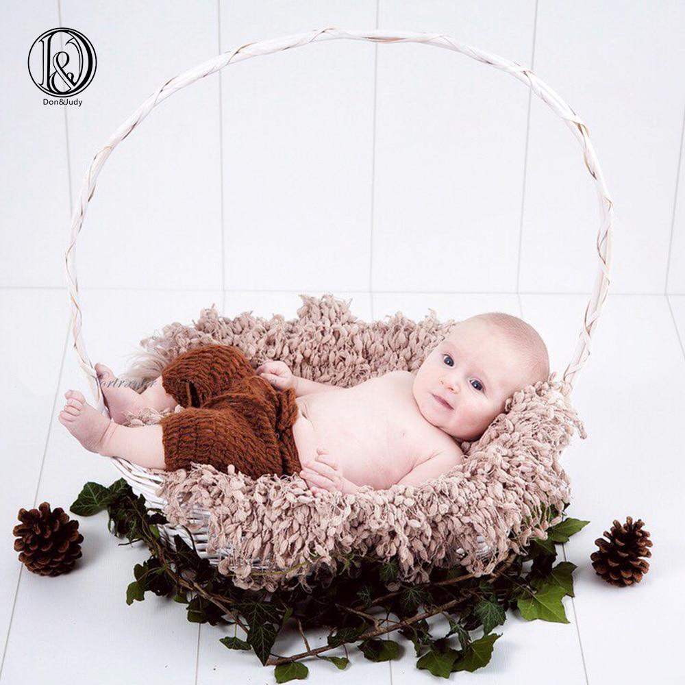 (2 पीसी / लॉट) लूपडिमेट के साथ क्रोकेट सॉफ्ट राउंड बेबी कंबल 50 सेमी नवजात फोटो कंबल नवजात फोटोग्राफी