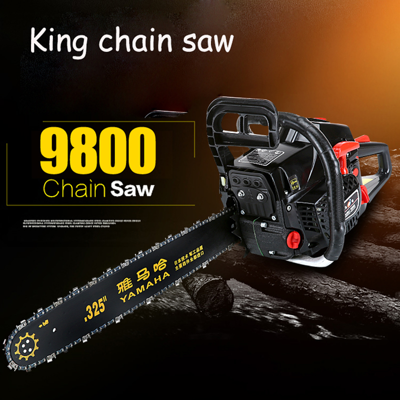 4.8KW High Power Chain Saw Handheld Gasoline Saws Wood Cutting Saw Import Chain Saws