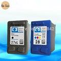 Бесплатная доставка для HP 27 28 Картридж для HP27 28 OfficeJet 4255/4256/5608/5609/5679/6110 HP PSC 2110 струйный принтер