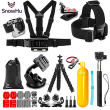 SnowHu for Gopro Hero 7 6 5 Accessories Set For Go pro black hero 4 session xiaomi SJCAM  Action Camera GS87