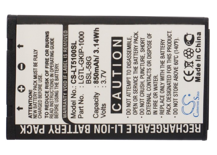 Battery C3100 Cameron Sino L5100 For LG A7110 A7150/C3100/C3380/.. BSL-58G 850mah LGTL-GKIP-1000