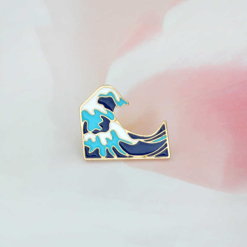 Blue Waves Bros Enamel Pin Gesper Kartun Logam Bros untuk Jaket Mantel Tas Pin Laut Perhiasan Hadiah untuk Anak-anak gadis Anak Laki-laki