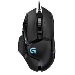 Logitech G502 profesjonalna mysz dla graczy obsługa programowania wielu przycisków mysz RGB 12000DPI waga dla PUBG CSGO FPS