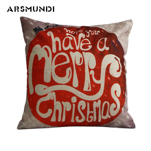 Led Simple Merry Christmas Letter Cushion Cover Woven Home Decorative Pillows Fashion word Pillow Case 45cm*45cm