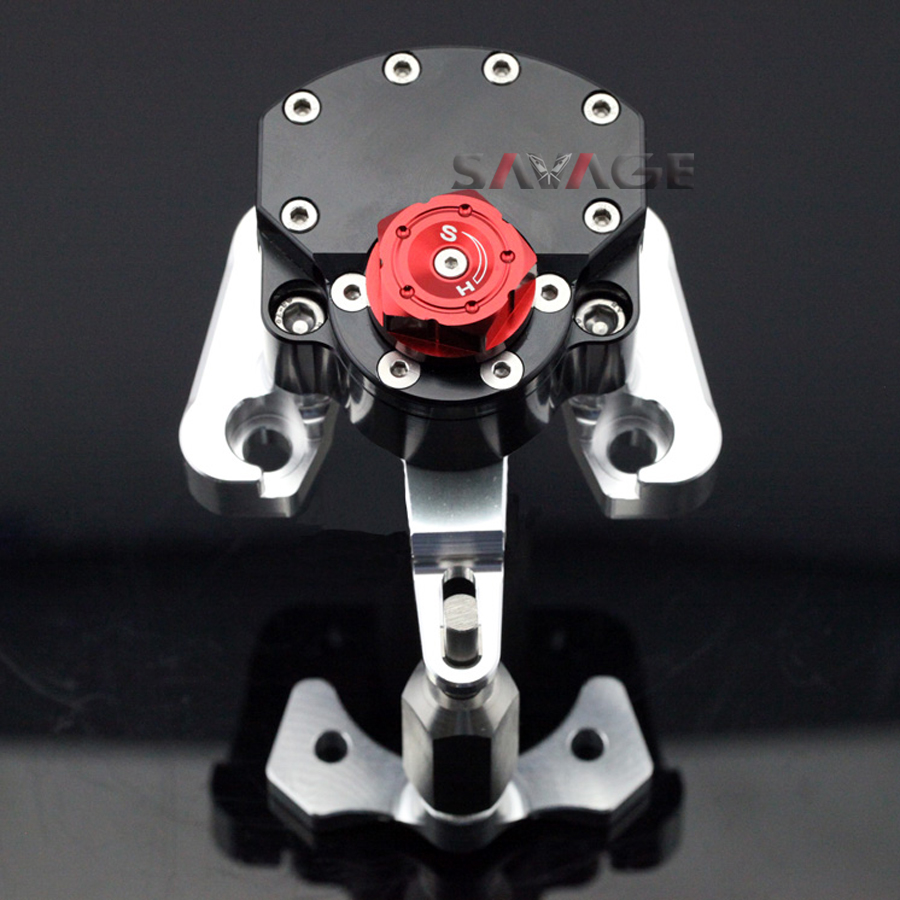 For DUCATI MONSTER 696 2008-2014 Black Motorcycle Reversed Safety Adjustable Steering Damper Stabilizer with Mount Bracket for ducati monster 696 2008 2014 black motorcycle reversed safety adjustable steering damper stabilizer with mount bracket