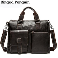 2017 Men Messenger Bags Genuine Leather Bag Men Briefcase Designer Top Handbags High Quality Famous Brand