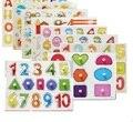 Materiales Montessori educativos juguetes para niños preescolares enseñanza conteo tablero de apilamiento matemáticas juguetes de madera panel Brinquedos W224