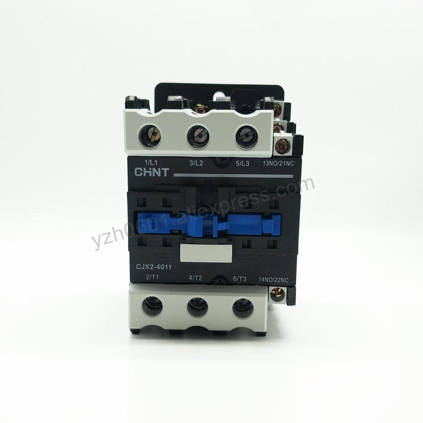 Original CHINT CJX2-4011 AC Contactor 1NO+1NC 40A Coil Voltage 380V 220V 110V 36V 24V LC1-D50 AC Contactor