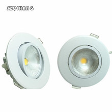 SZQIHANG Round Recessed Hight Lighting LED Ceiling Downlights 75mm Cut Hole COB Spot Lamp Real 5W AC85~265V  Living Room. led downlights round double rings rotary fitting e27 85 265v 75mm 3 inch cut hole recessed mounted spot lamp bulb replaceable