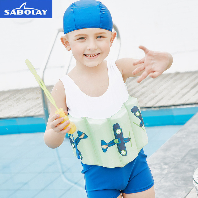 ab66c0ff14 SabOlay Children s Swimsuit Beach Boys Swimwear Bathing Suits Kids Infant  Babe Buoyancy Swimsuit Baby One-piece Suits 3 6 Years