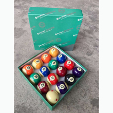 Горячая Распродажа и высокое качество Бассейн Спорт и полимерный материал бильярдный шар набор 57 мм с зеленой коробкой