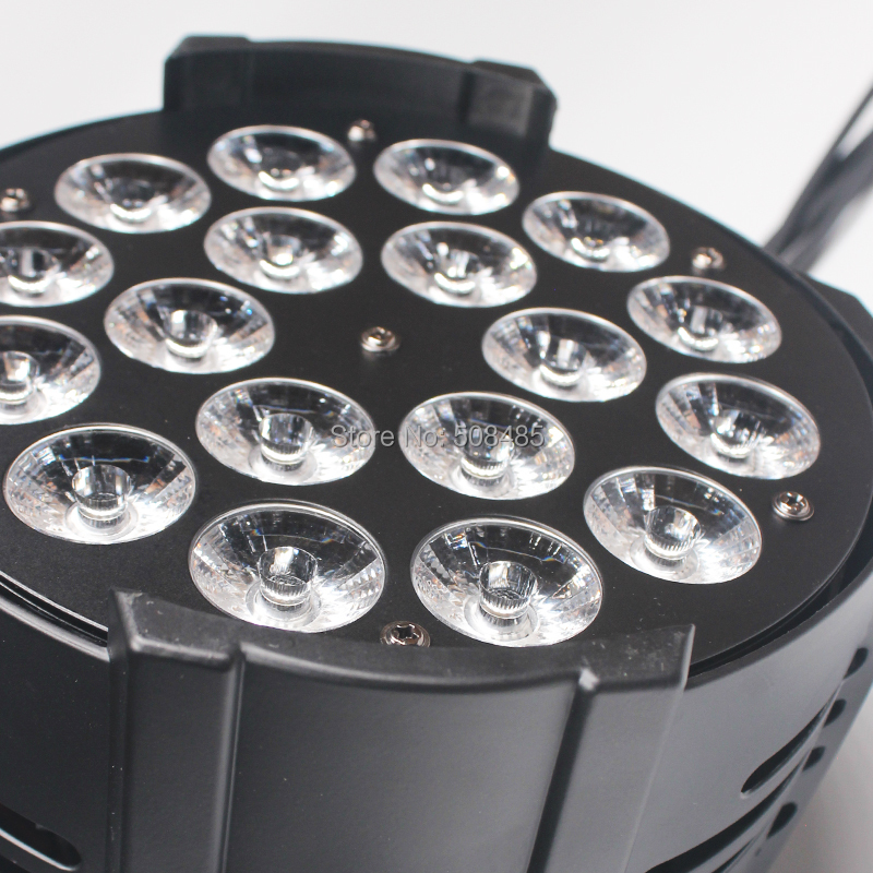 8 pcs/lot LED Par Aluminum alloy 18x18W LED Light RGBWA+UV 6IN1 LED Light Stage DJ Light DMX Led Par Par Party Lights professional 8x led par 6 18w leds smart dj s4 battery powered wireless dmx wedding uplight light rgbwa uv 6in1 party up lights