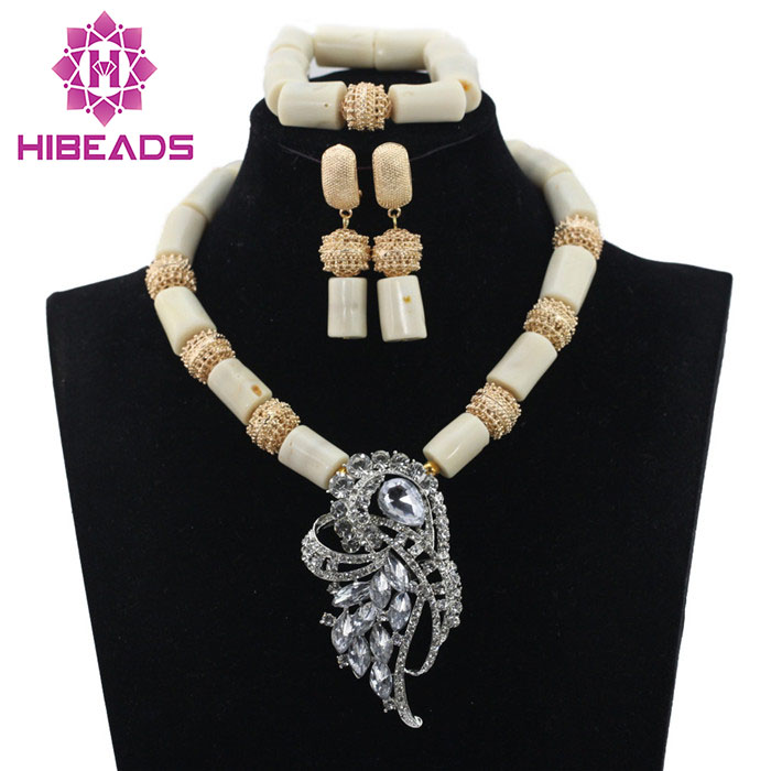 New White Coral African Beads Jewelry Set New Wedding Necklace Set Fashion Pendant Free Shipping CNR614New White Coral African Beads Jewelry Set New Wedding Necklace Set Fashion Pendant Free Shipping CNR614