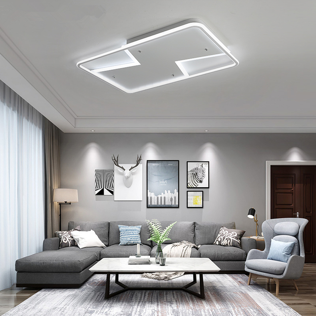 TRAZOS Gleam New Arrival White Finish Modern Led Ceiling Lights For Living Room Master Bedroom Fixtures AC175-265V Ceiling Lamp
