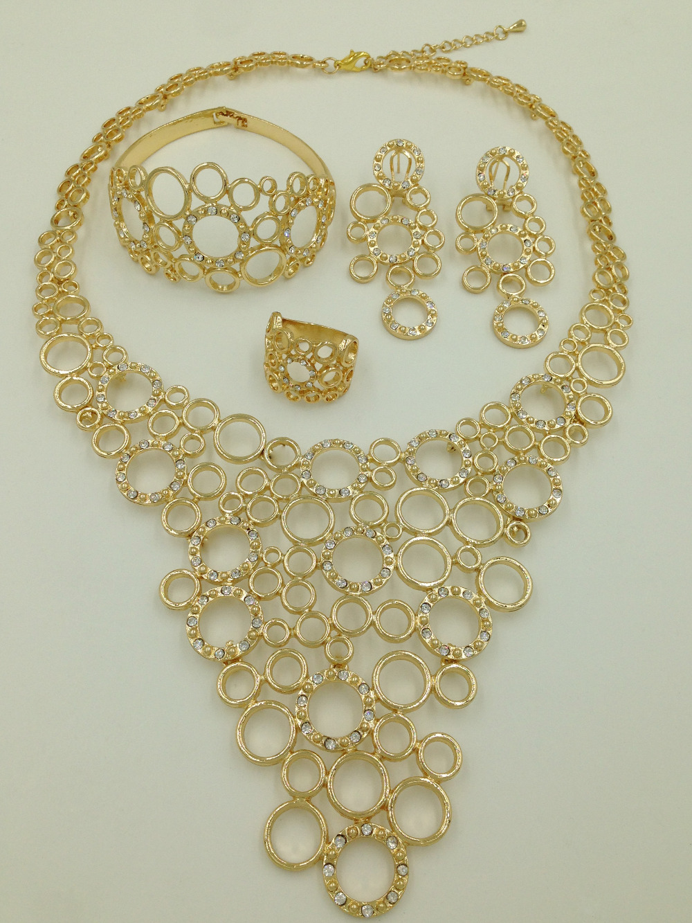 2015 New fashion African Dubai Costume 18k Gold Plated Jewelry Sets