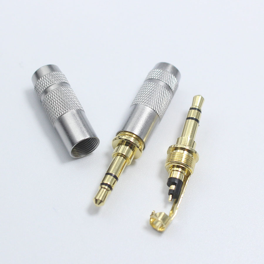 Eclyxun 4pcs Lot Gold Plated 35mm 3 4 Pole Stereo Male Repair 5mm Jack Wiring Headphone Solder Plug Metal Audio Diy Connector In Connectors From Lights Lighting On