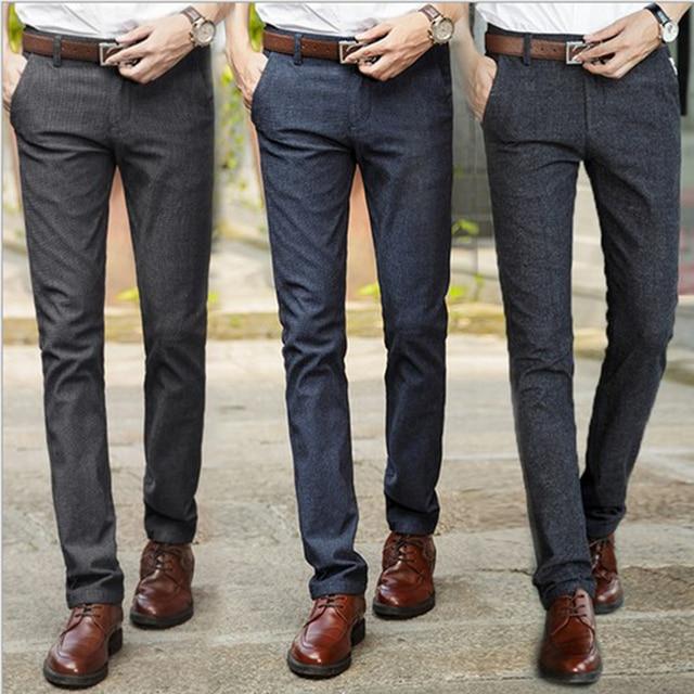 Mens Pants Casual Dress Pants Formal Male Suit Trousers Autumn Pants