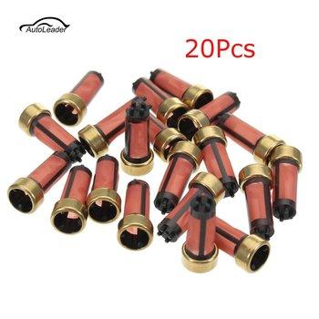 20 sztuk wysokiej jakości auto wtrysk paliwa benzyny mikro filtr OEM MD619962 14*6*3mm części samochodowe Sapre tanie i dobre opinie TOYOTA Autoleader 14mm Nylon Other