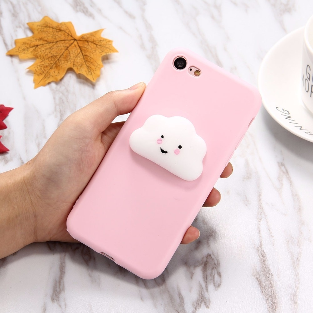 Iphone 6 squishy case - Squishy Phone Case For Iphone 6 6s 7plus Lovely Cloud Pattern Squeeze Relief Squishy Dropproof Protective Back Cover Case In Fitted Cases From