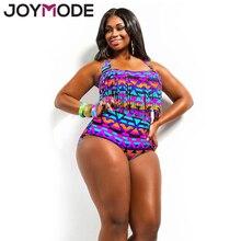 JOYMODE Plus Size Obese Women Sexy Bikini Summer Two Pieces High Waist Swimsuits Retro Bathing Suit  Large Size Swimwear 3XL -B