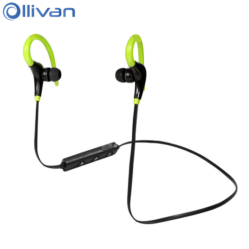 Ollivan BT-1 Sports Bluetooth Headset Ear Hook Wireless Headphone Intelligent Noise Reduction Earphone One Drag Two Auriculares dacom g06 ipx5 waterproof armor sports headset wireless bluetooth v4 1 earphone ear hook running headphone with mic for iphone
