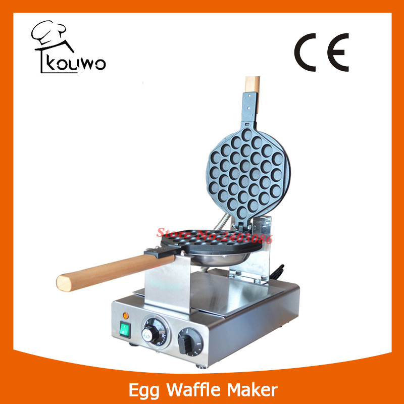 KW-6Y Stainless steel Eggettes Bubble Waffle Maker Commercial egg waffle maker Non-stick pan waffle grill Egg puff machine 220V stainless steel mini computer controlled restaurant eggettes machine hongkong egg waffle maker