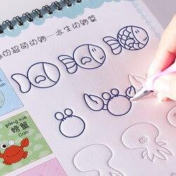 Reutilizável Básica Pintura Caderno Escrita a Mão Sulco Notebook Auto Desaparece de Treinamento Educacional Brinquedos Para As Crianças Jogos