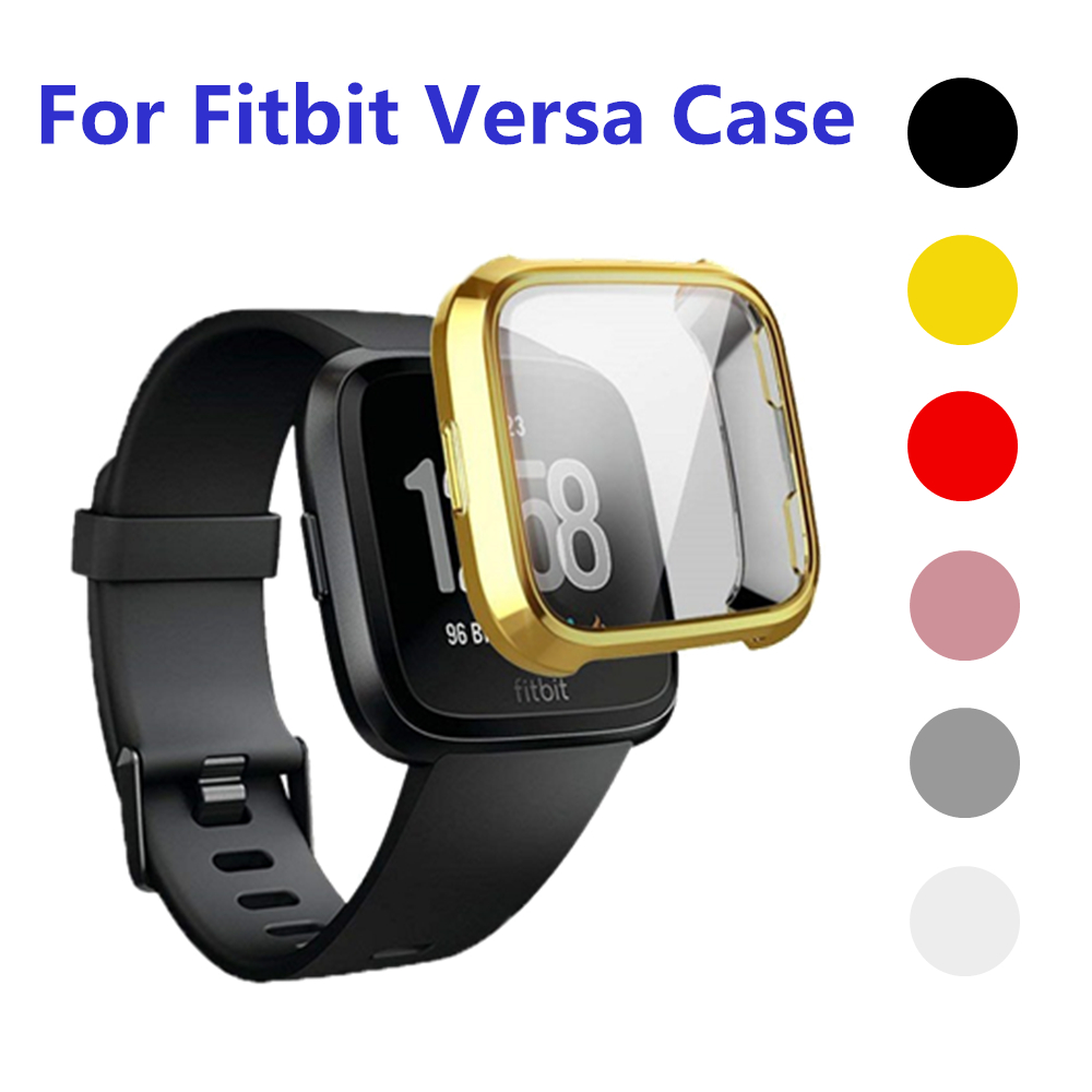 Soft Silicone Case For Fitbit Versa Band Full Protector Cover For Fitbit Versa Lite Accessories For Versagel Protective Shell