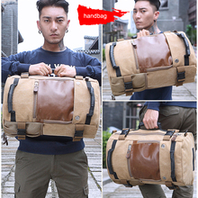 Multi-function  High Quality Promotion Fashion Designer Vintage Canvas Big Size Men Travel Bags Large Capacity Luggage Backpacks